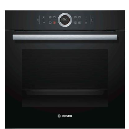 Picture of Bosch: HBG674BB1B Single Pyrolytic Oven Black