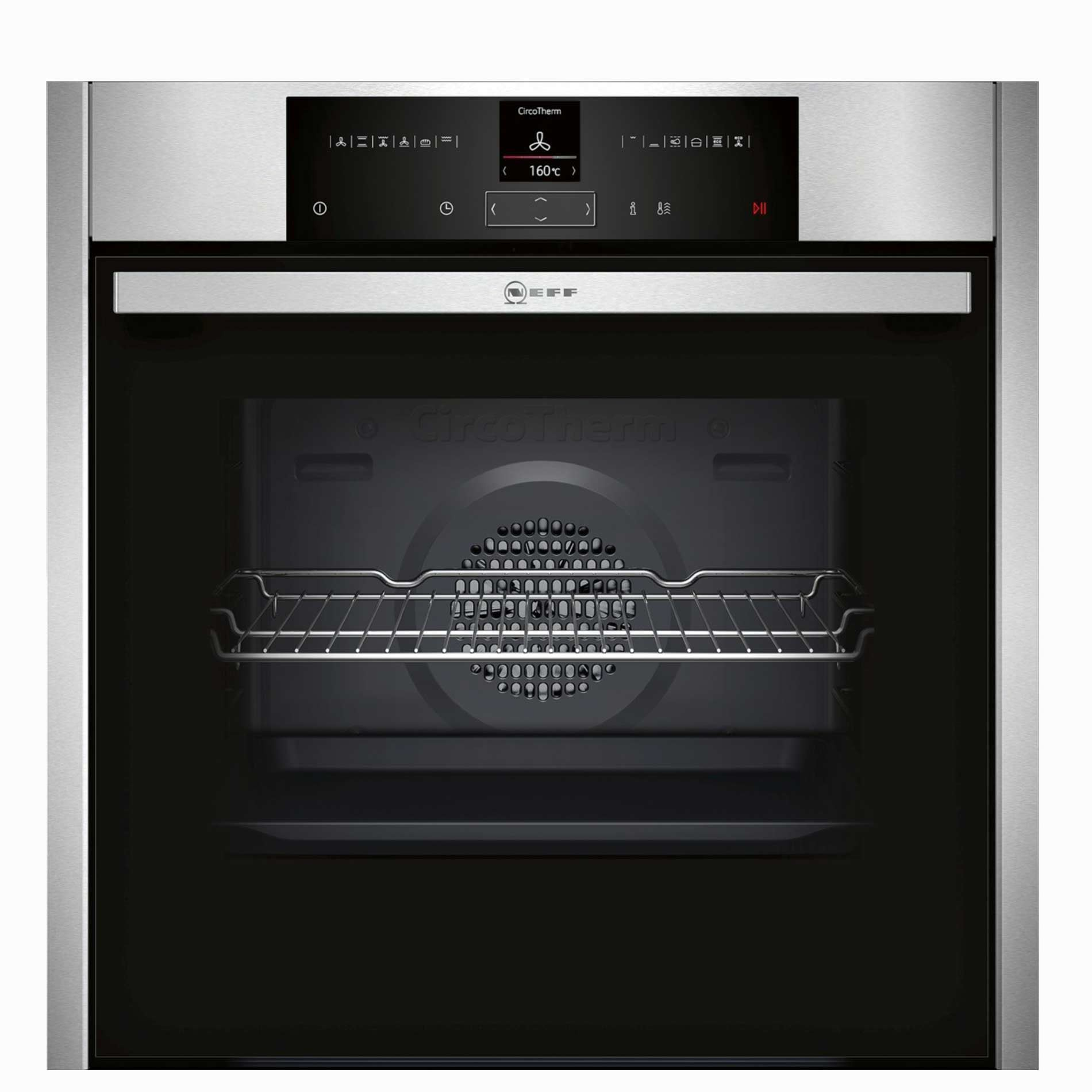 Neff b25cr22n1b single pyrolytic oven appliance source - Neff single oven with grill ...