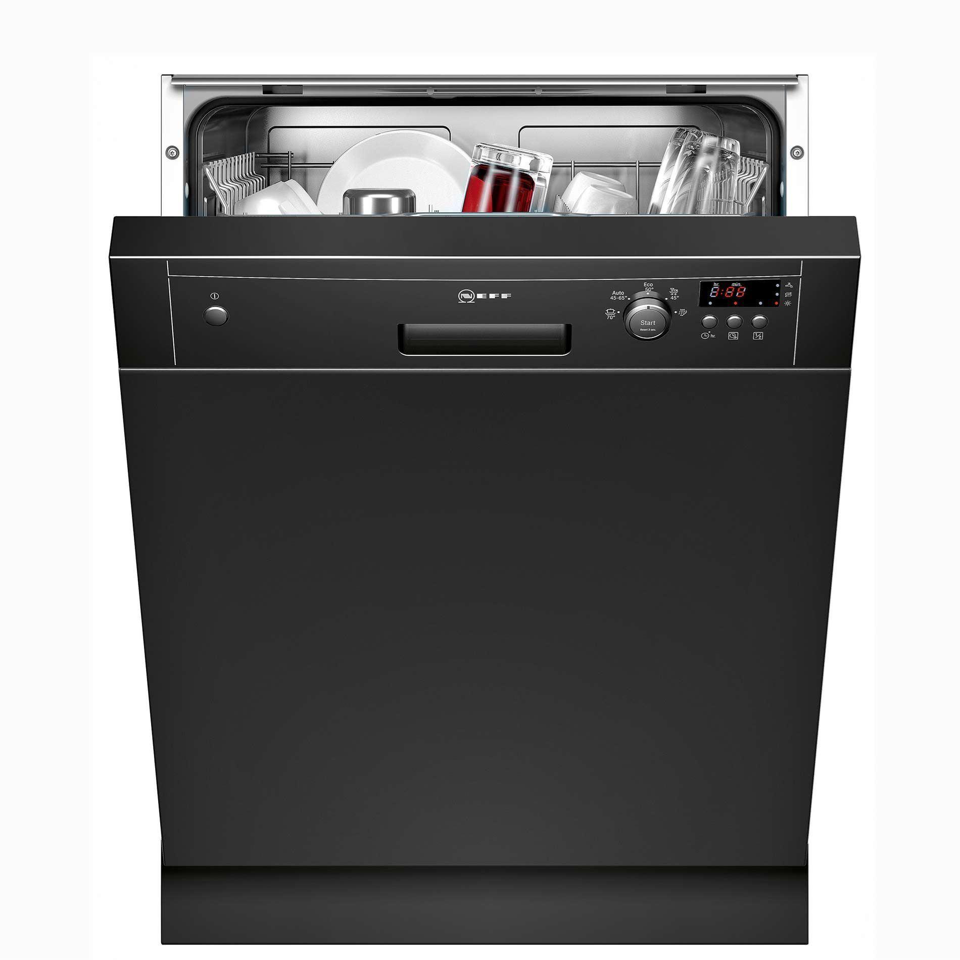 Picture of S41E50S1GB Black Semi-Integrated Dishwasher