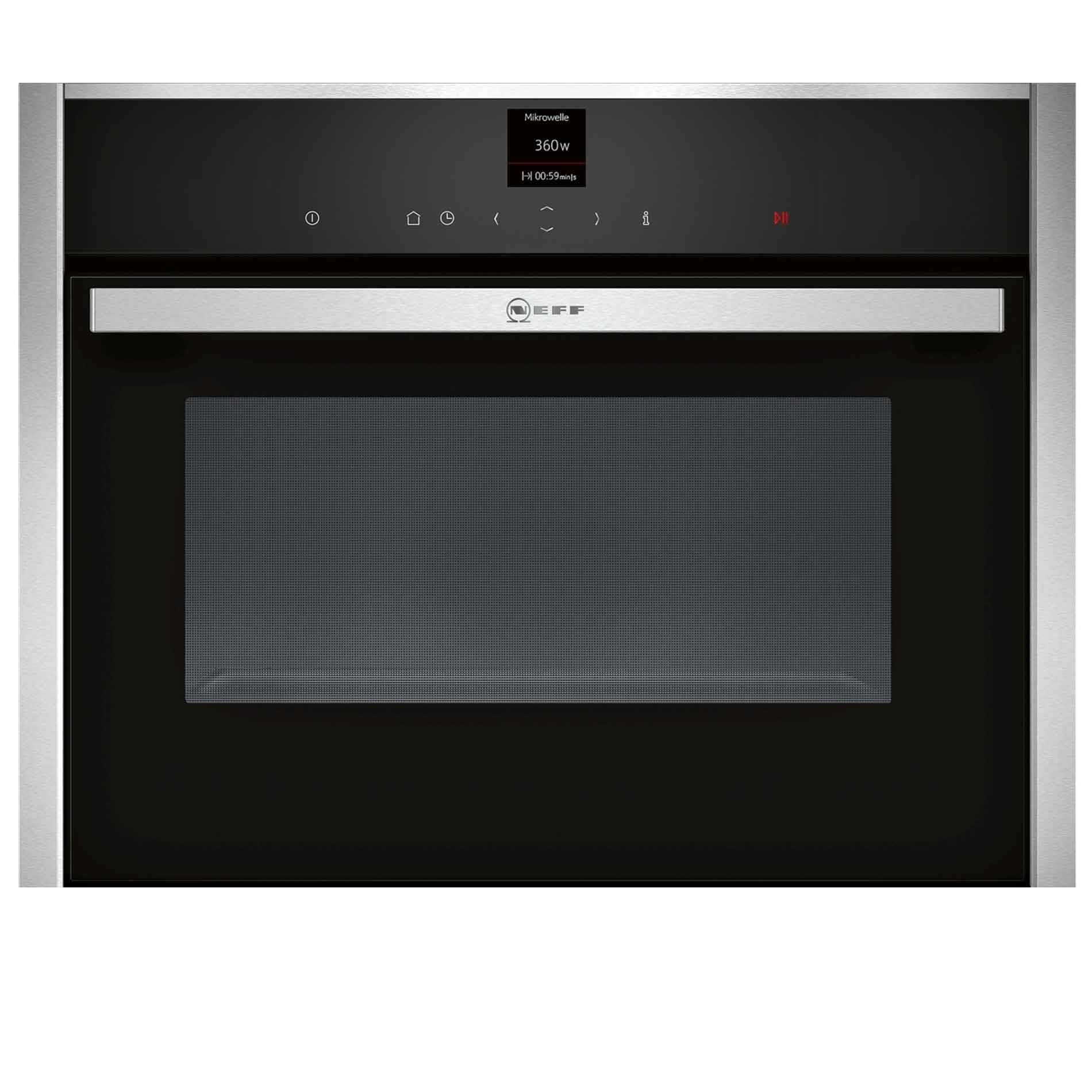 Picture of C17UR02N0B Compact Microwave Oven Stainless Steel