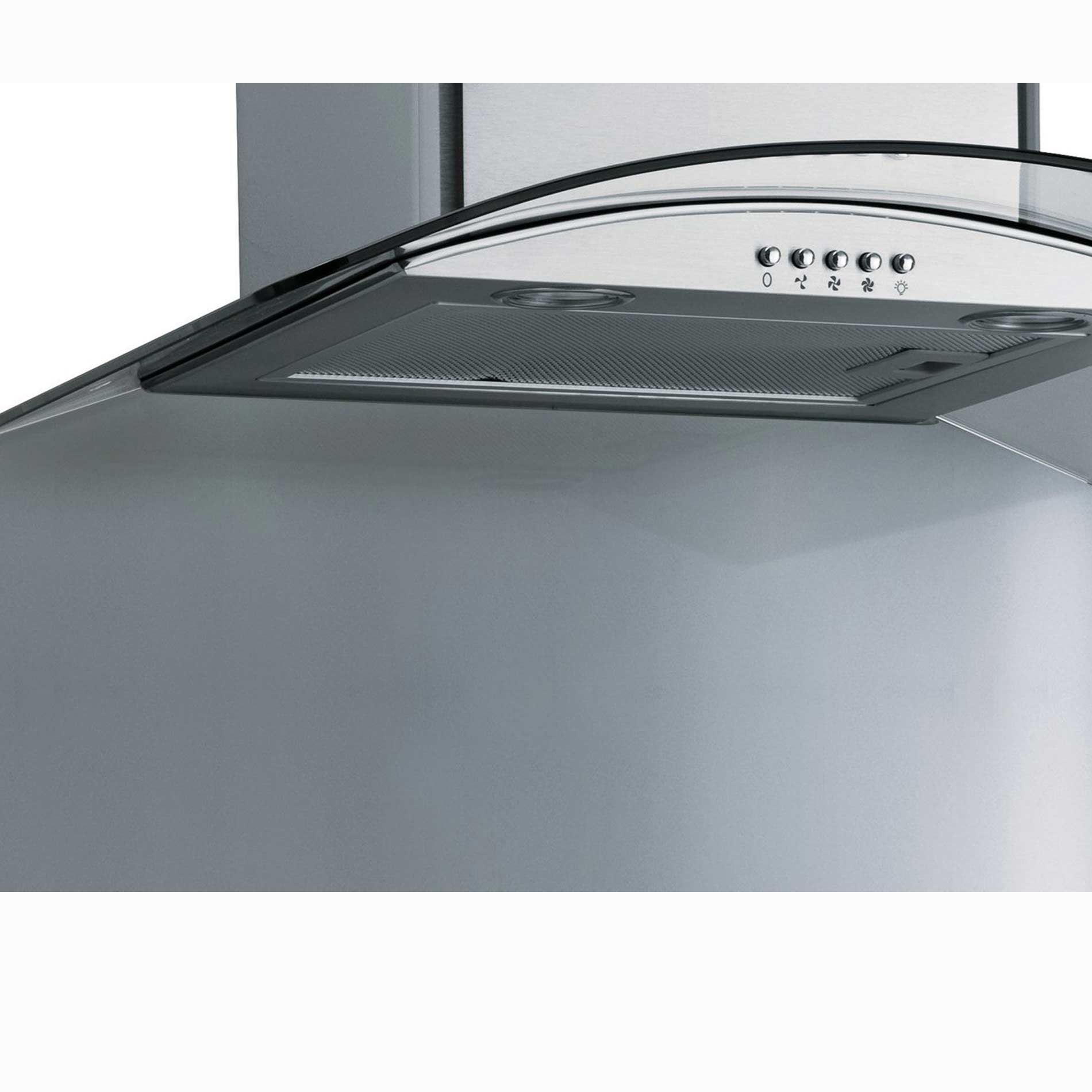 Picture of CSBCURVE605 600mm Curved Stainless Steel Splashback