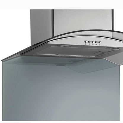 Picture of Caple: TSBCURVE900 900mm Pewter Curved Toughened Glass Splashback