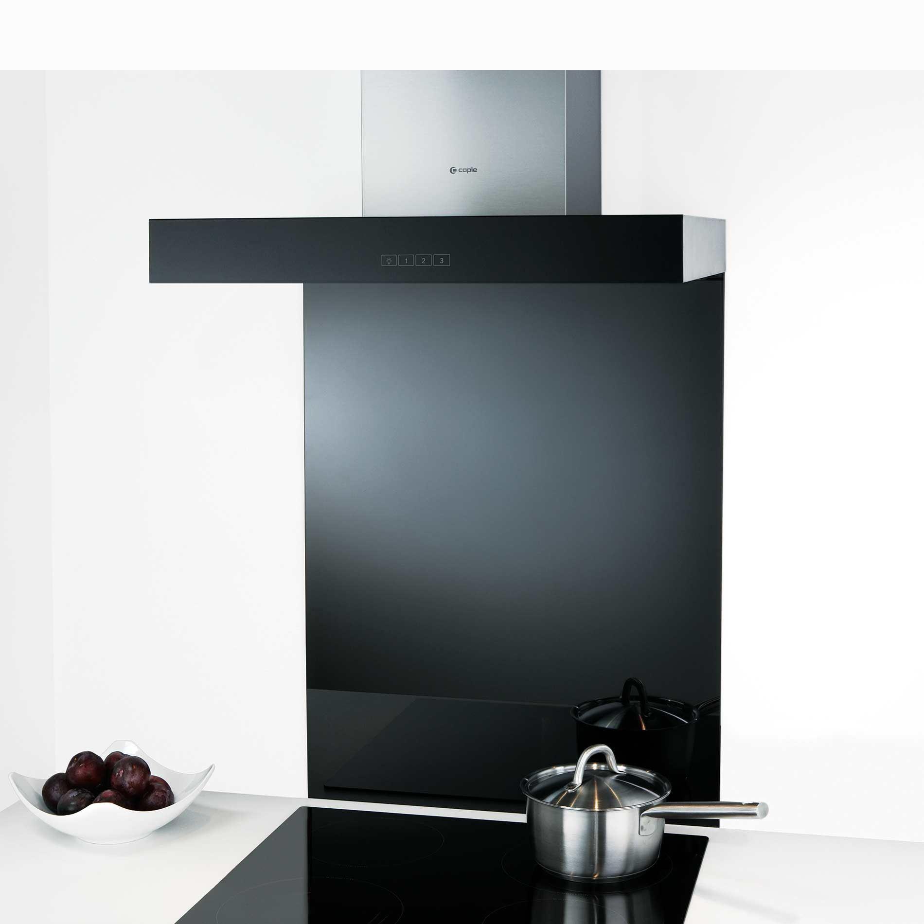 Picture of TSB600 Black Toughened Glass Splashback