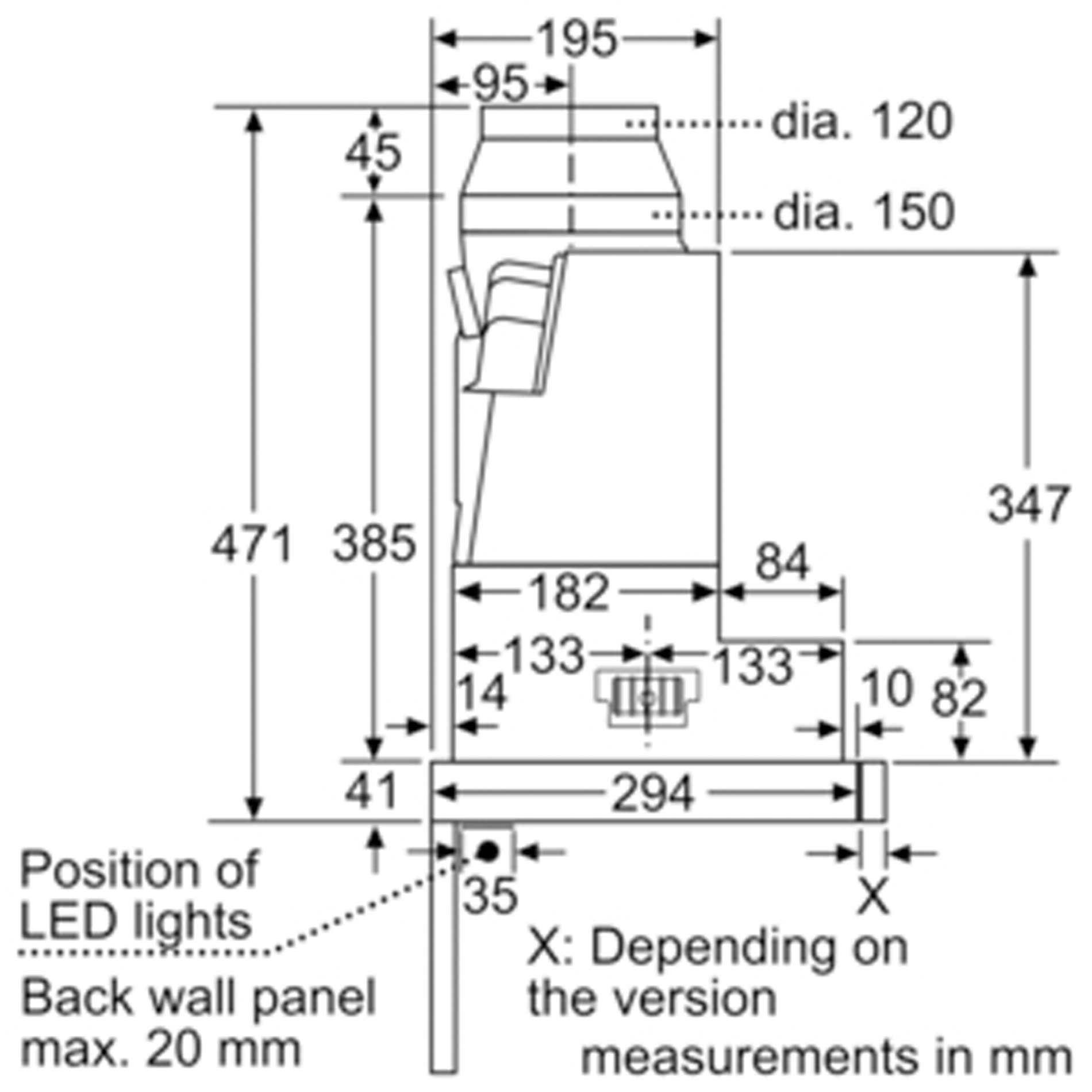 neff d49ml54n0b telescopic hood 90cm wide appliance source