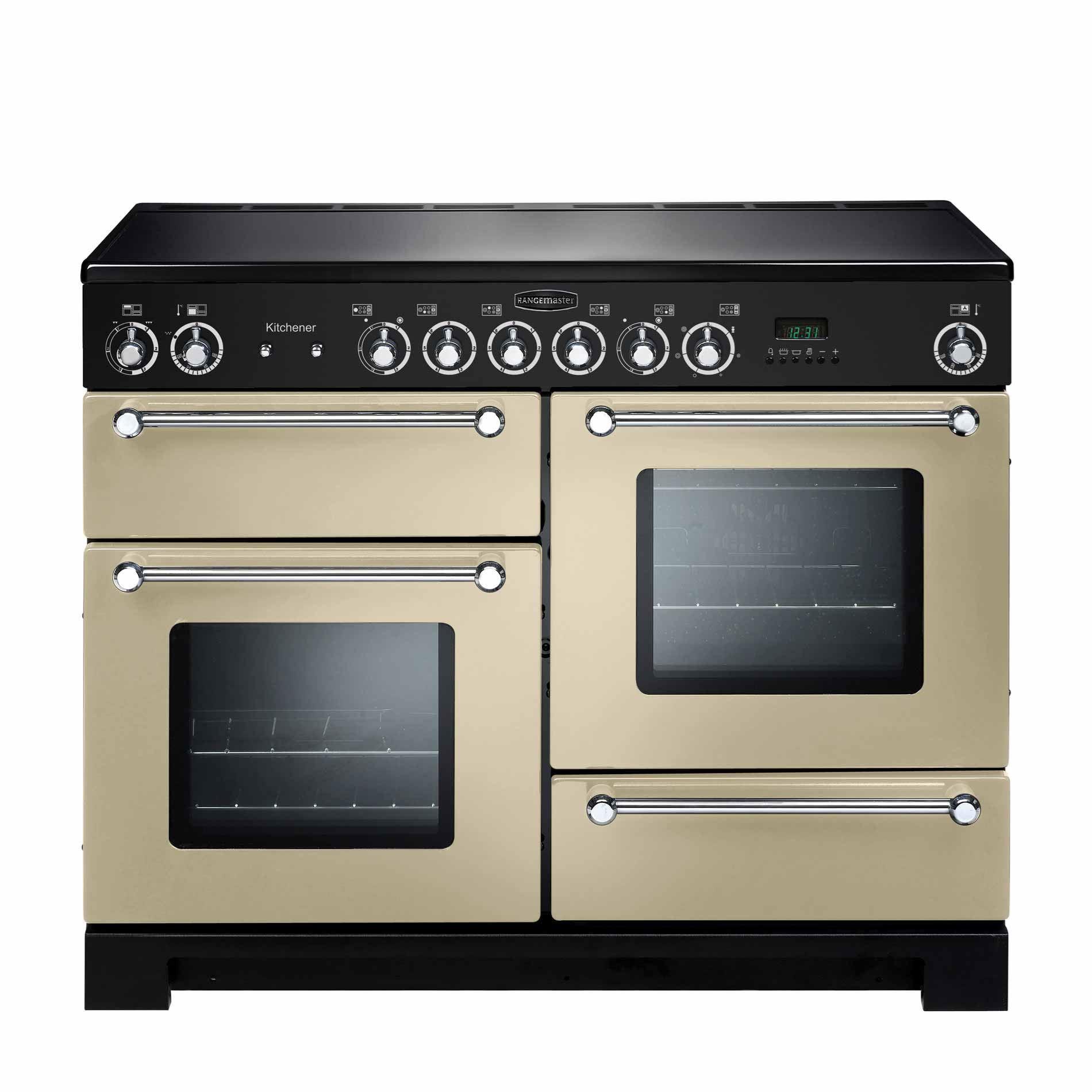 Rangemaster: Kitchener 110 Ceramic Cream Range Cooker - Appliance Source