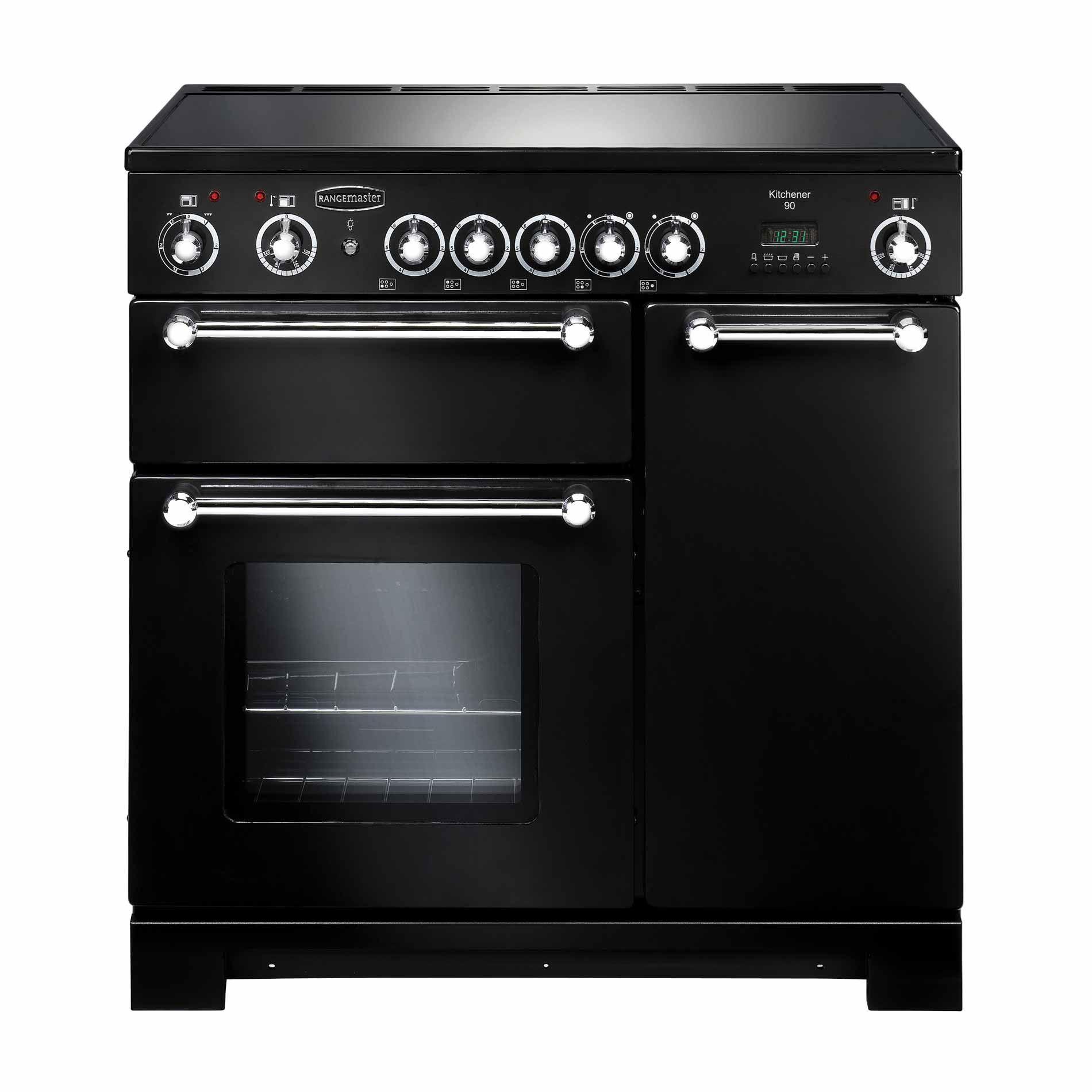 Uncategorized Appliance Kitchener rangemaster kitchener 90 ceramic black range cooker appliance picture of cooker