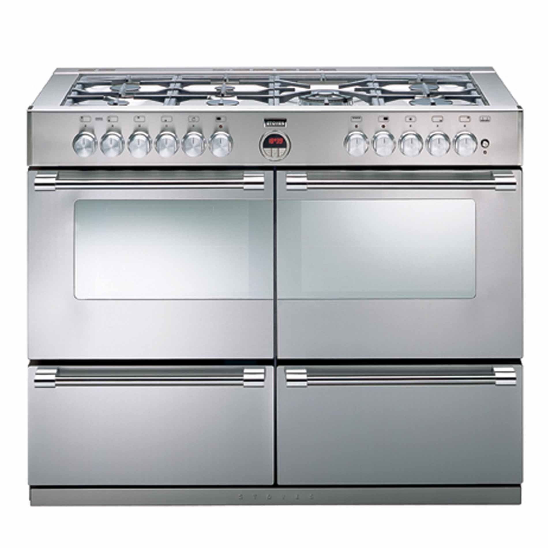 Appliance Source - Stoves: Sterling 1000DFT 100cm Dual Fuel Stainless ...
