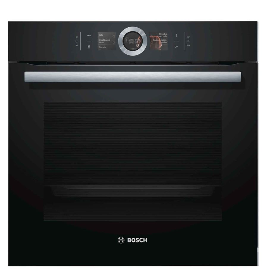 Bosch Hbg6764b6b Built In Single Pyrolytic Oven Black