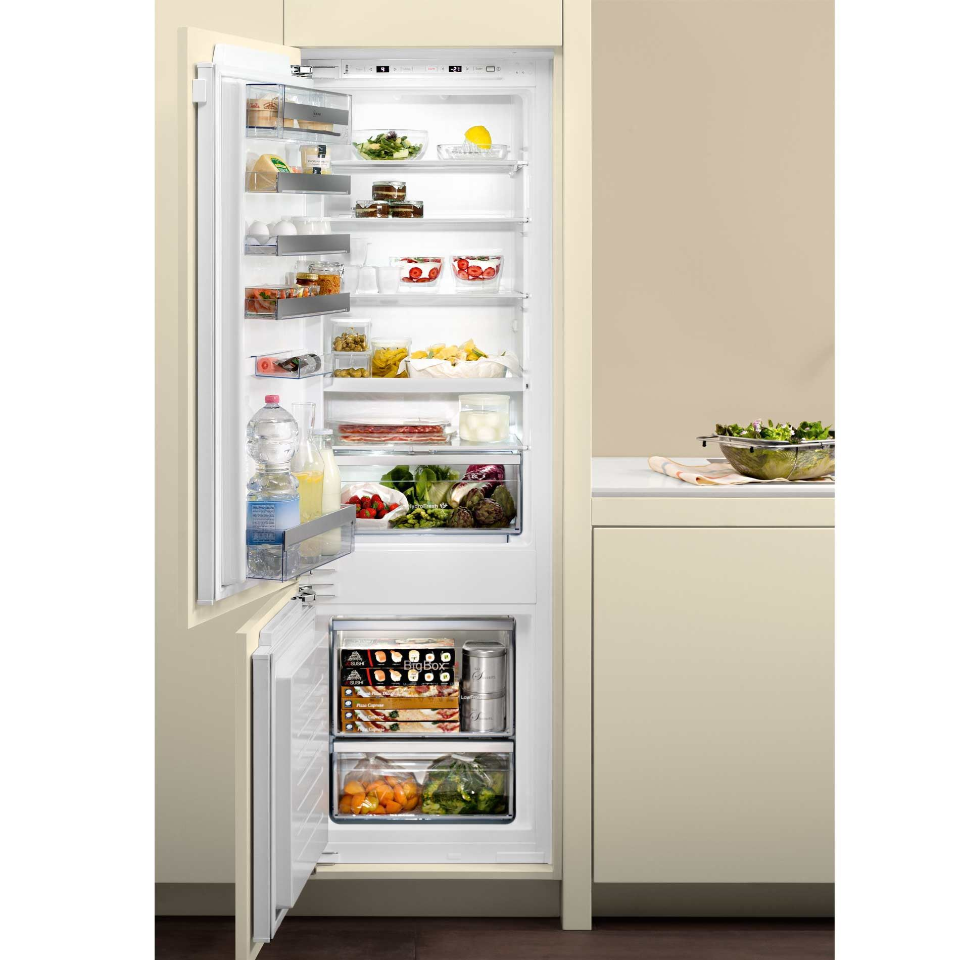 Neff Ki6873f30g 70 30 Built In Fridge Freezer Appliance