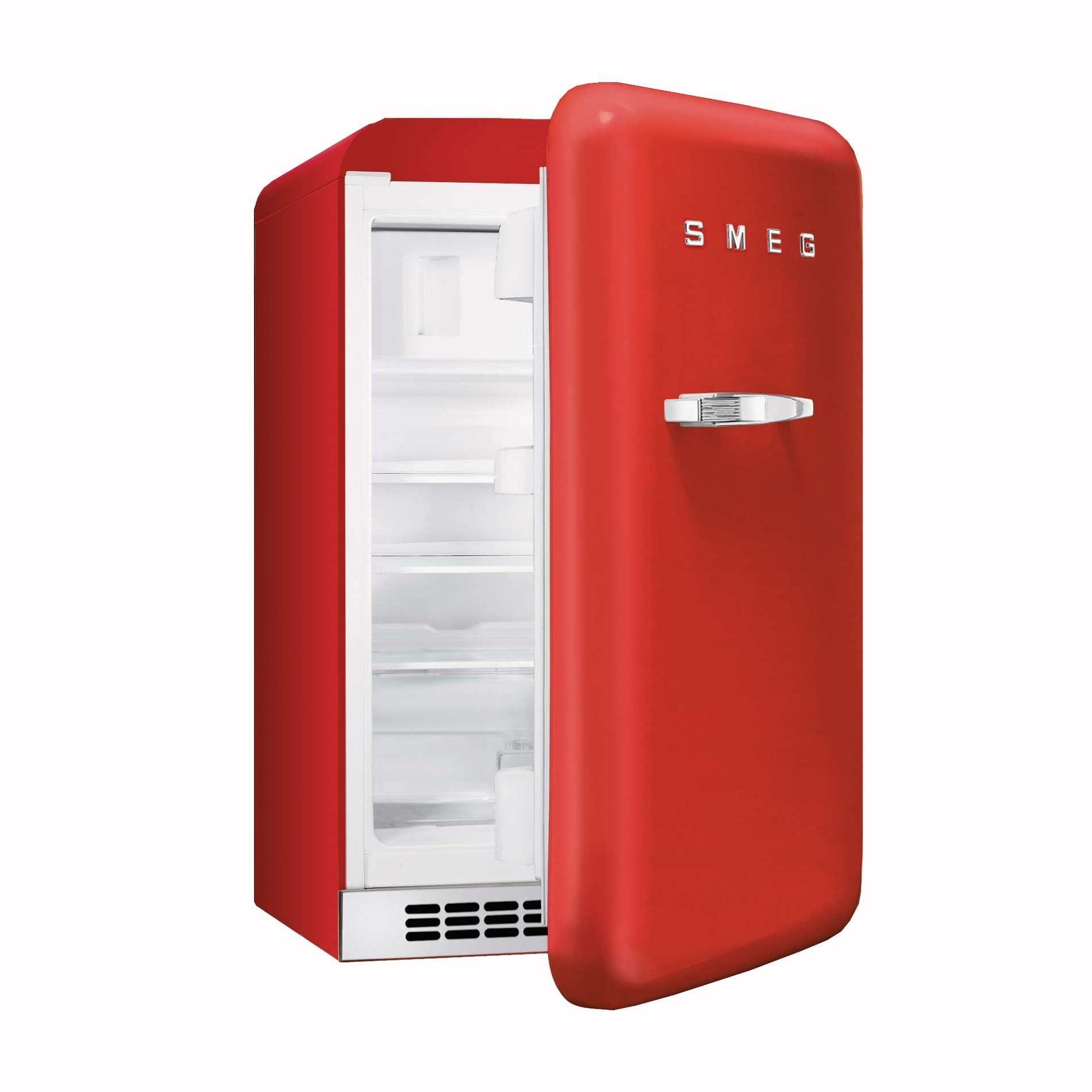 50s Style Kitchen Appliances Smeg Fab10rr 55cm Red Small 50s Style Fridge With Icebox