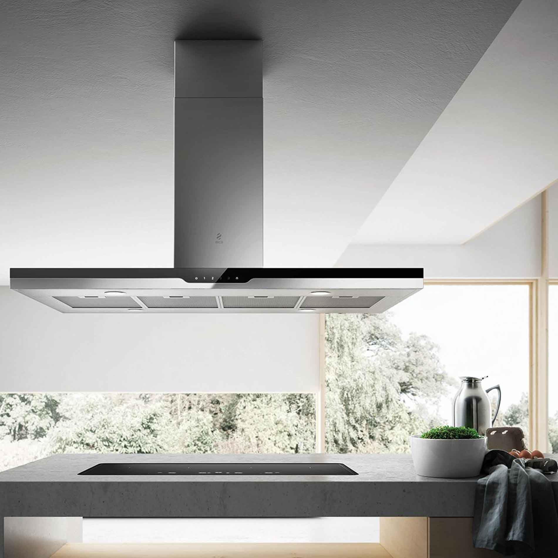 elica prima sense island cooker hood appliance source