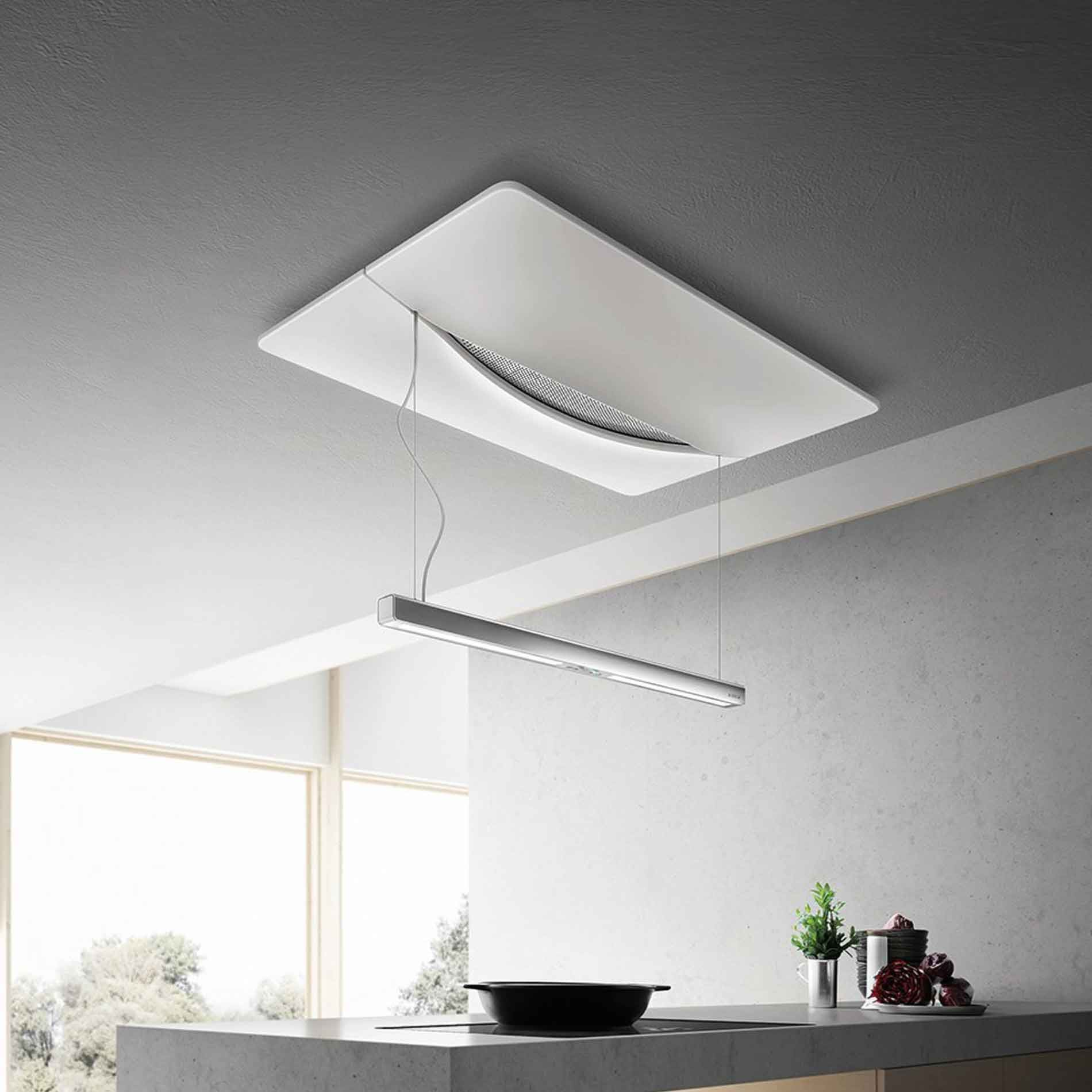 elica: empty sky techne ceiling hood - duct out version