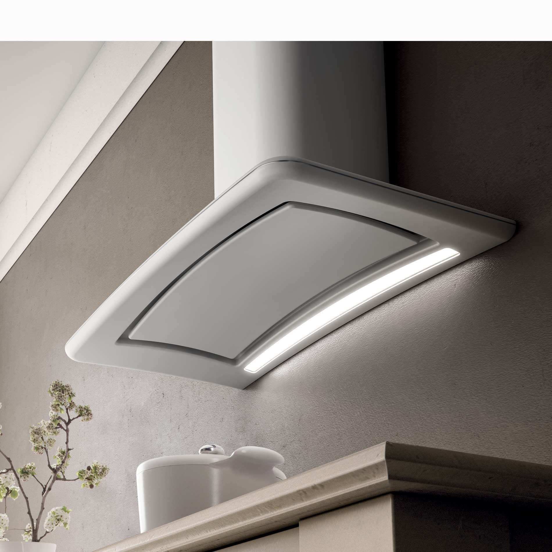 Elica Dolce White Cooker Hood Appliance Source