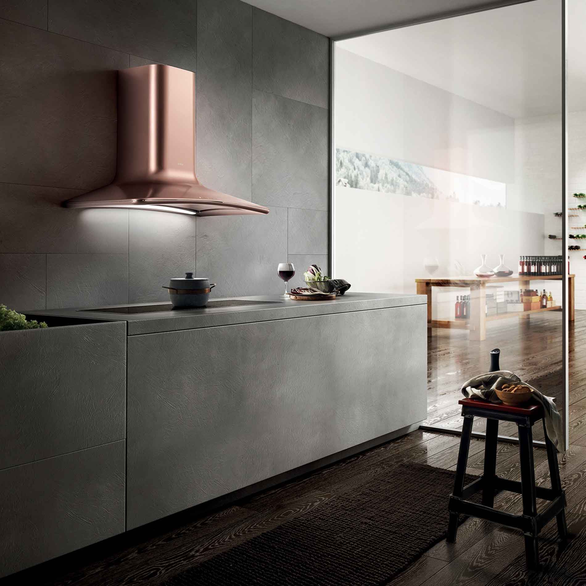 Kitchen Hood Testing Requirements: Elica: Dolce Copper Cooker Hood