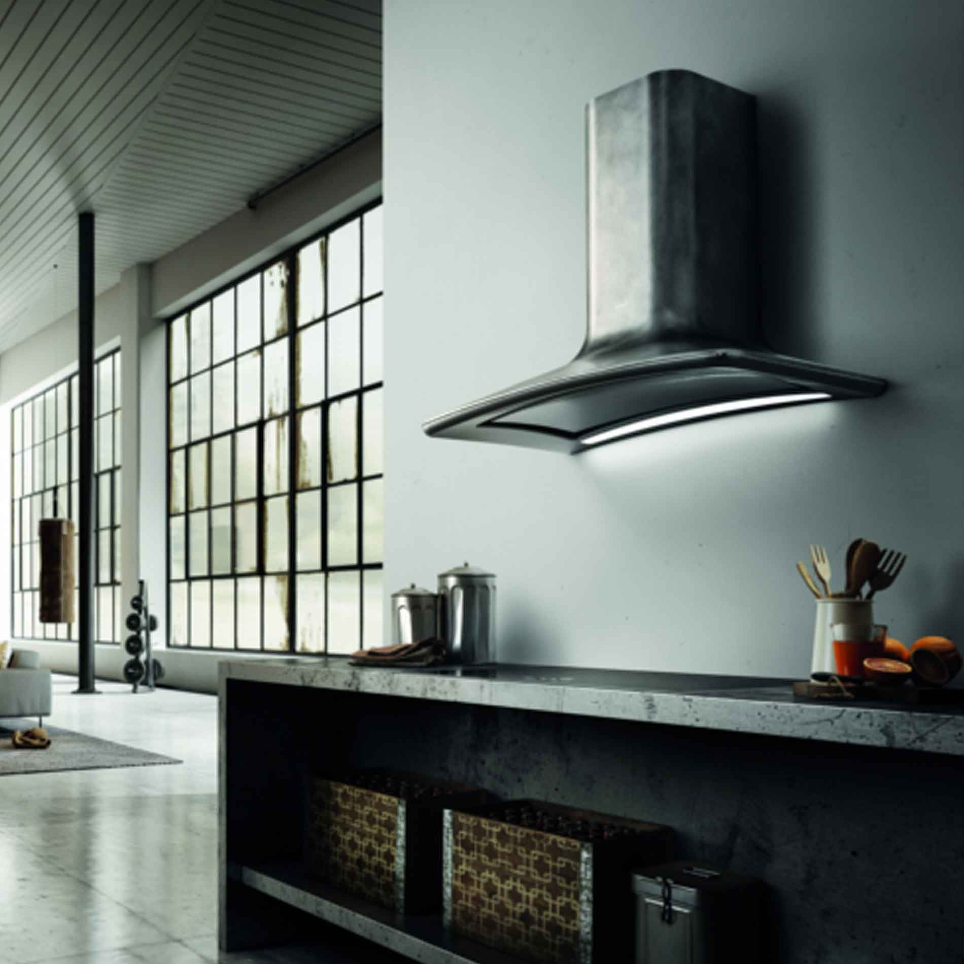 Kitchen Hood Testing Requirements: Elica: Dolce Peltrox Brushed Stainless Steel Cooker Hood