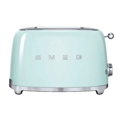 Picture of Smeg: TSF01PGUK 2 Slice Toaster Pastel Green