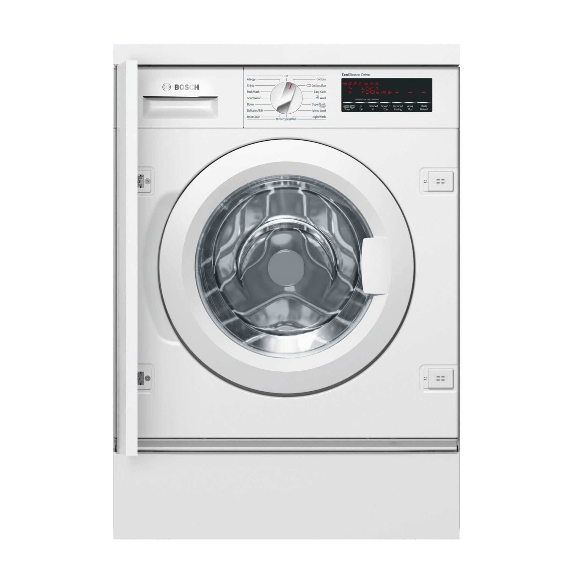 bosch wiw28500gb fully integrated automatic washing machine appliance source. Black Bedroom Furniture Sets. Home Design Ideas