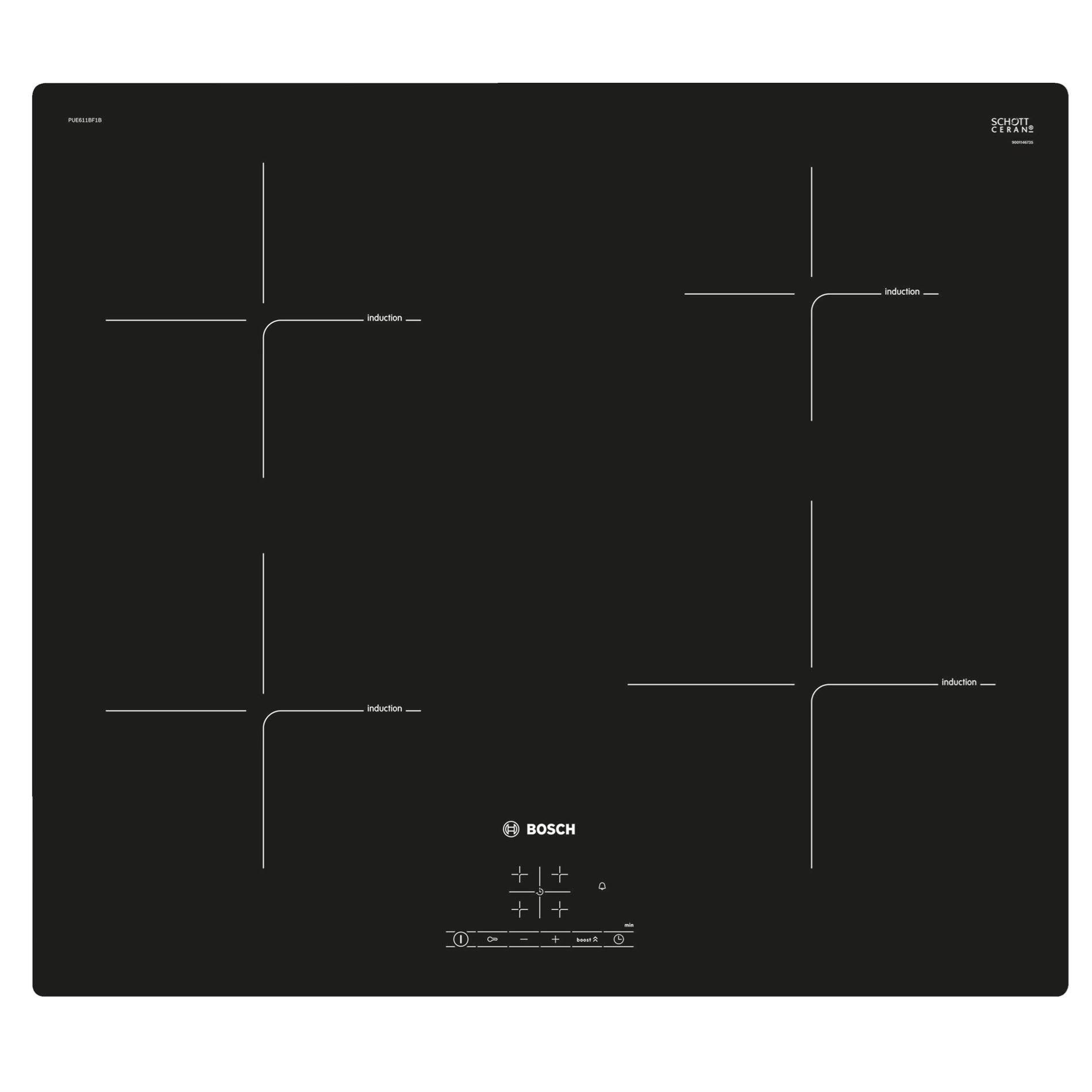 Picture of PUE611BF1B Induction Hob
