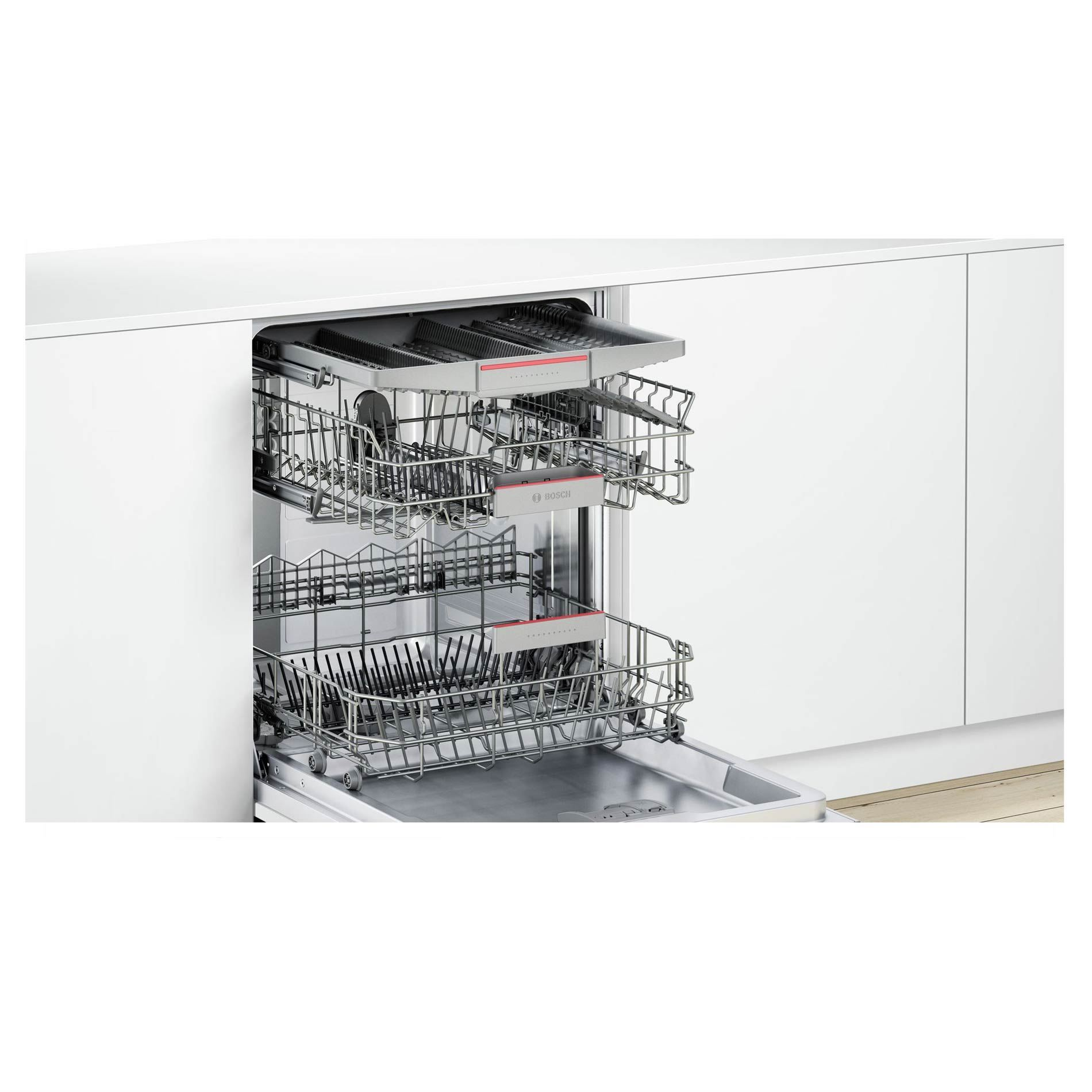 Bosch Smv46mx00g Silver Fully Integrated Dishwasher
