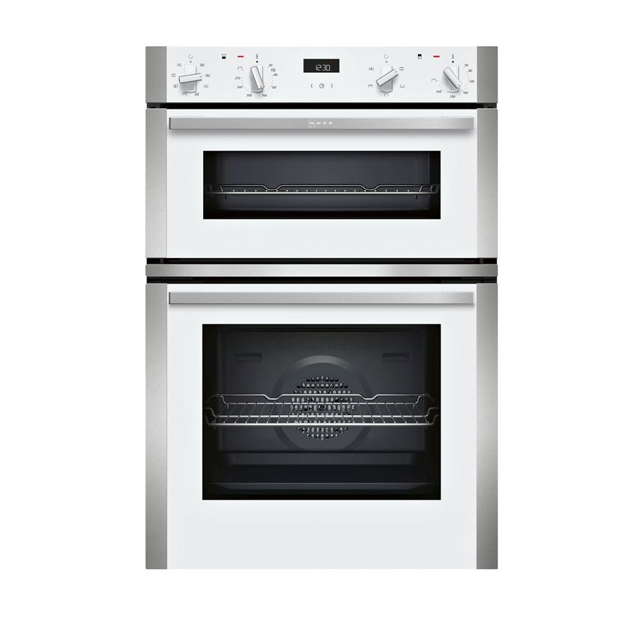 Neff U1ace2hw0b Built In White Double Oven Appliance Source