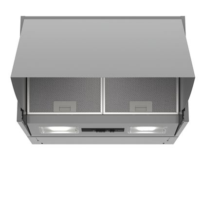 Picture of Bosch: DEM63AC00B Brushed Steel Integrated Cooker Hood