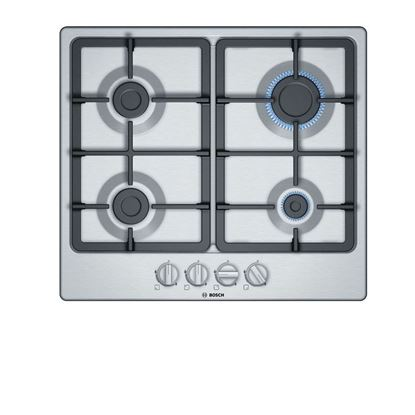 Picture of Bosch: PGP6B5B90 Brushed Steel Gas Hob