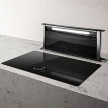 Picture of Andante 90 Black Downdraft Hood With Internal Motor